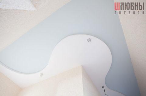 Двухуровневый натяжной потолок в коридоре в Могилеве фото