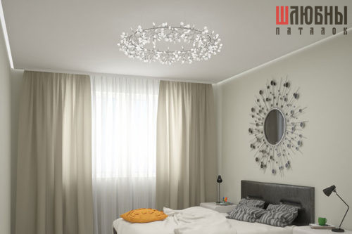 Парящий контурный натяжной 3D потолок в Могилеве фото
