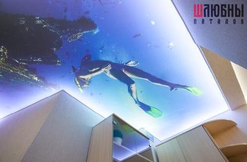 Арт-потолок с подсветкой в Могилеве фото