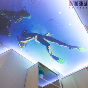 Арт- потолок с подсветкой в Могилеве фото