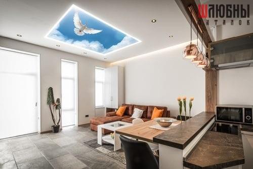 Натяжной потолок Double vision в Могилеве фото 1