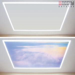 Натяжные потолки Double vision в Могилеве фото 6