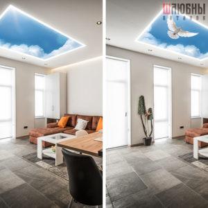 Натяжные потолки Double vision в Могилеве фото 5