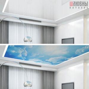 Натяжные потолки Double vision в Могилеве фото 3