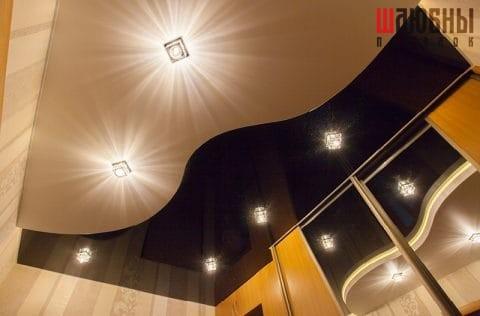Двухуровневый потолок с эксклюзивом Галактика в прихожую в Могилеве фото