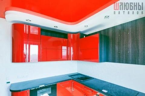 Двухуровневый потолок в кухню в Могилеве фото 2