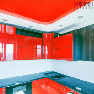 Двухуровневый потолок в кухню в Могилеве фото
