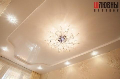Двухуровневый потолок в спальню в Могилеве фото 2