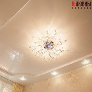 Двухуровневый натяжной потолок в спальню в Могилеве фото 1