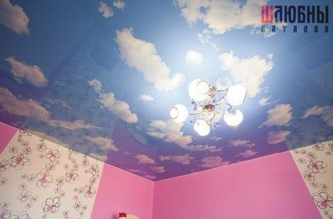 Эксклюзивный натяжной потолок в детскую в Могилеве фото 1