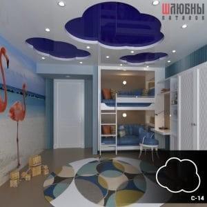 Красивый натяжной двухуровневый потолок в детскую в Могилеве фото 1