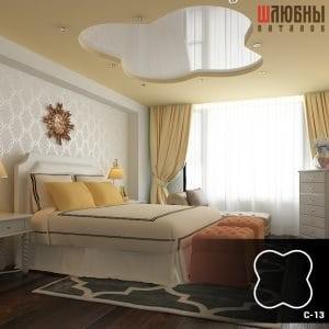 Красивый двухуровневый натяжной потолок в спальне в Могилеве фото 3