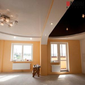 Многоуровневый потолок в студию в Могилеве фото
