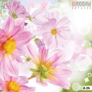Натяжной потолок цветы 4-26 в Могилеве фото