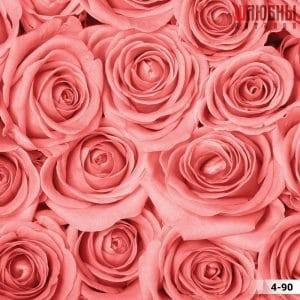 Натяжной потолок цветы 4-90 в Могилеве фото