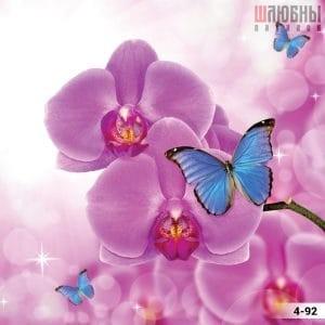Натяжной потолок цветы 4-92 в Могилеве фото