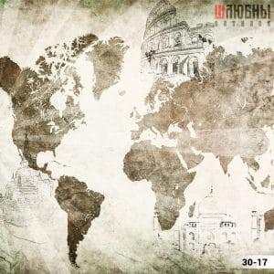 Натяжной потолок карта 30-17 в Могилеве фото
