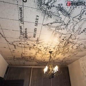 Натяжной потолок с фотопечатью Карта в Могилеве фото 1