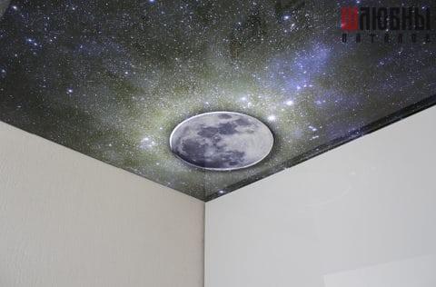 Натяжной потолок Звездное небо в спальню в Могилеве фото 1